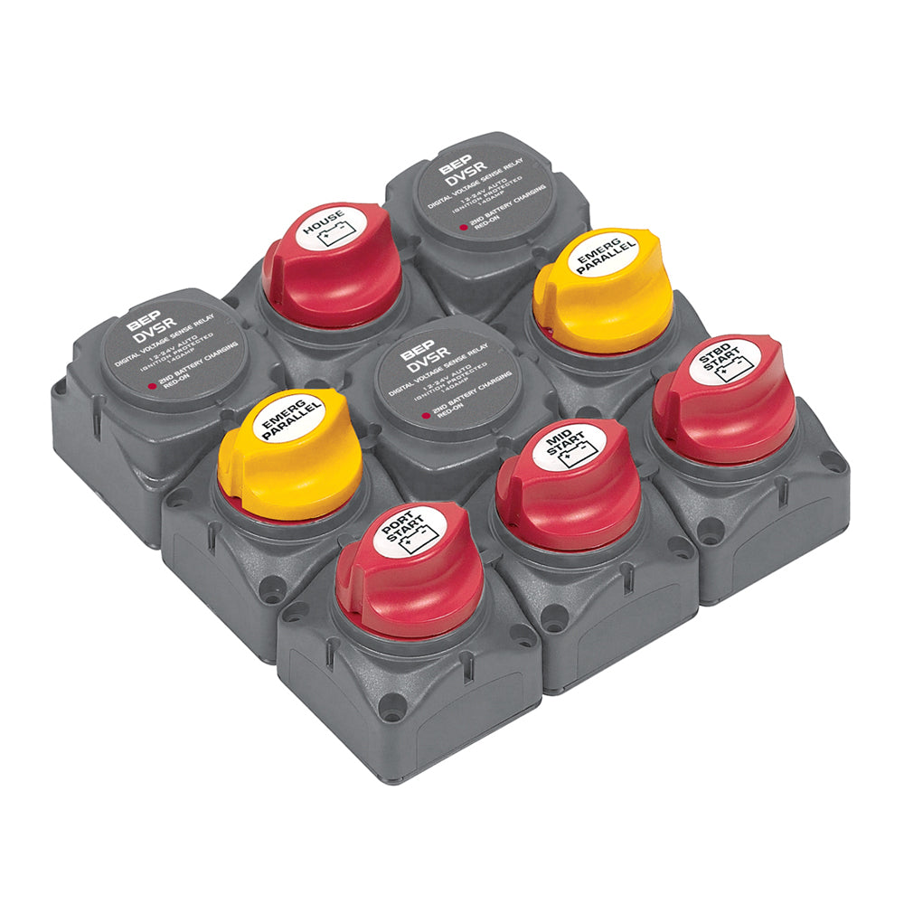 BEP Battery Distribution Cluster f/Triple Outboard Engine w/Four Battery Banks [719-140A-DVSR]