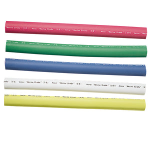 "Ancor Adhesive Lined Heat Shrink Tubing - 5-Pack, 6"", 12 to 8 AWG, Assorted Colors [304506]"