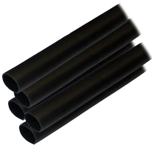 "Ancor Adhesive Lined Heat Shrink Tubing (ALT) - 1-2"" x 12"" - 5-Pack - Black [305124]"