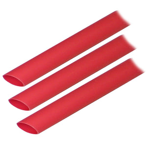 "Ancor Adhesive Lined Heat Shrink Tubing (ALT) - 1-2"" x 3"" - 3-Pack - Red [305603]"