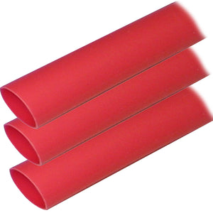 "Ancor Adhesive Lined Heat Shrink Tubing (ALT) - 1"" x 12"" - 3-Pack - Red [307624]"