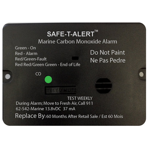 Safe-T-Alert 62 Series Carbon Monoxide Alarm w-Relay - 12V - 62-542-Marine-RLY-NC - Flush Mount - White [62-542-MARINE-RLY-NC]