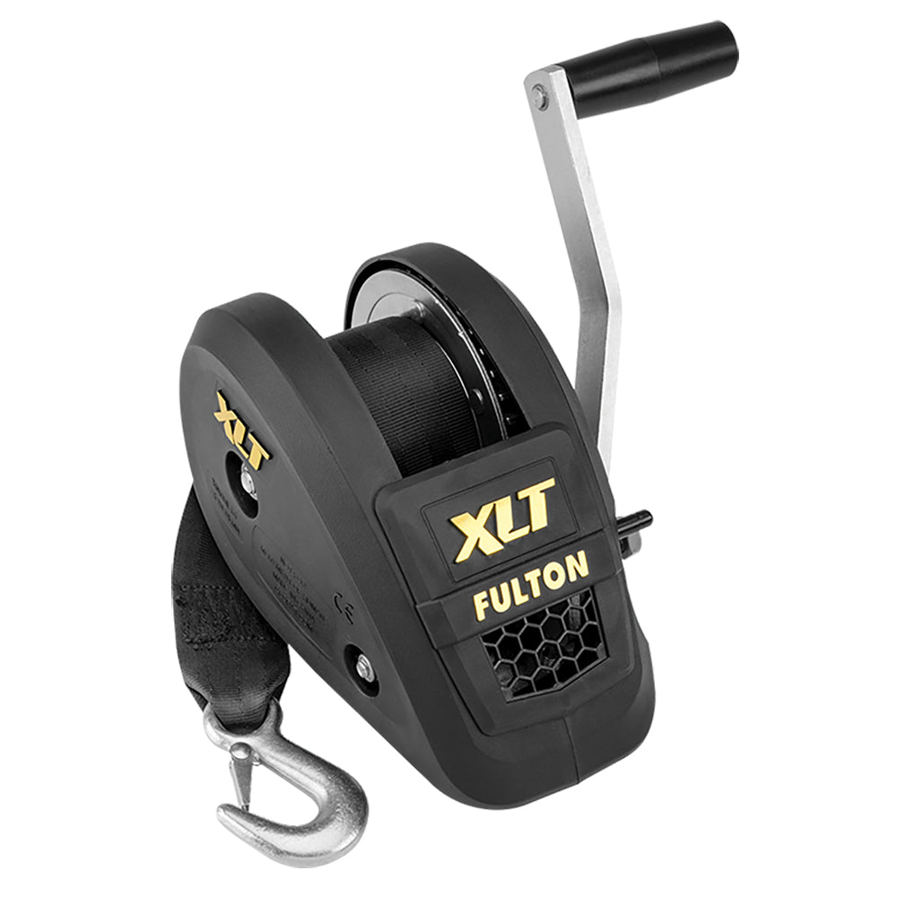 Fulton 1500lb Single Speed Winch w/20' Strap Included - Black Cover [142311]