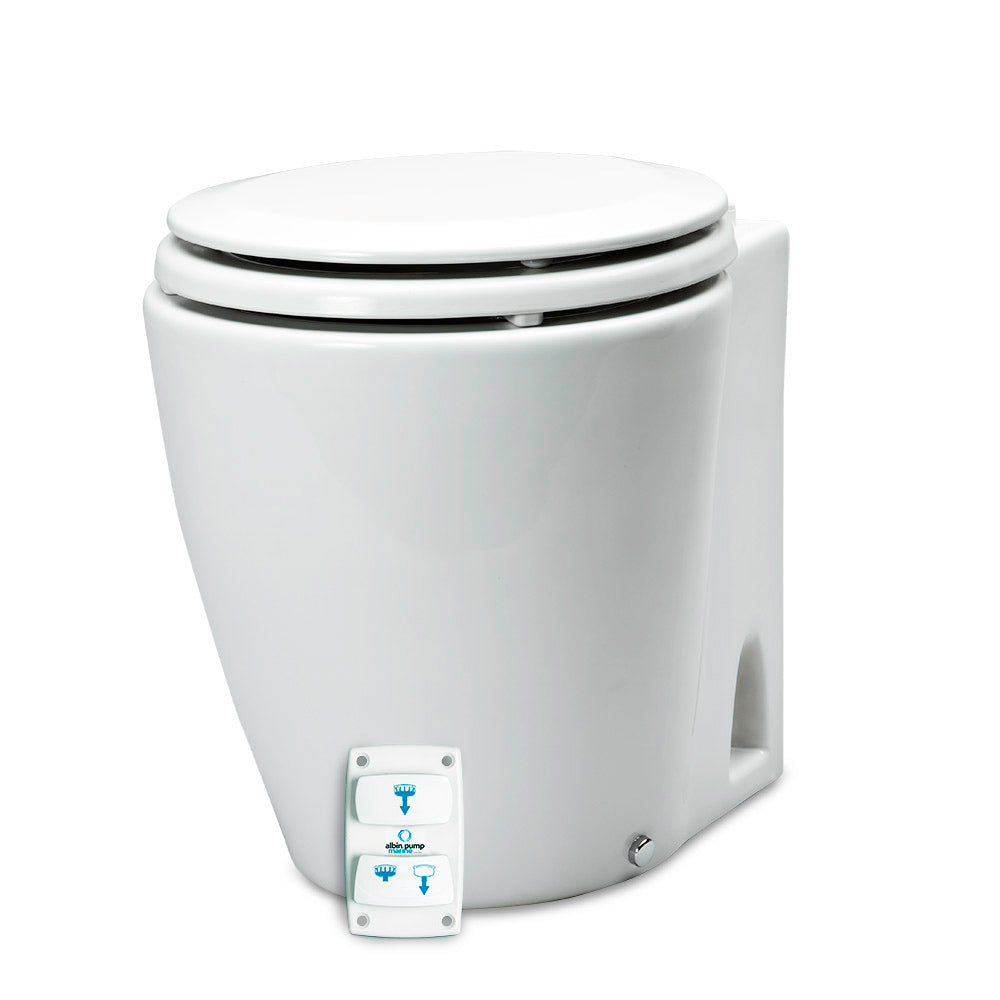 Albin Pump Marine Design Marine Toilet Silent Electric - 12V [07-03-045]