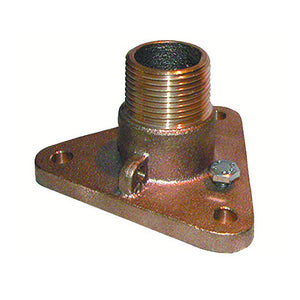 "GROCO 1"" Bronze NPS to NPT Flange Adapter [IBVF-1000]"