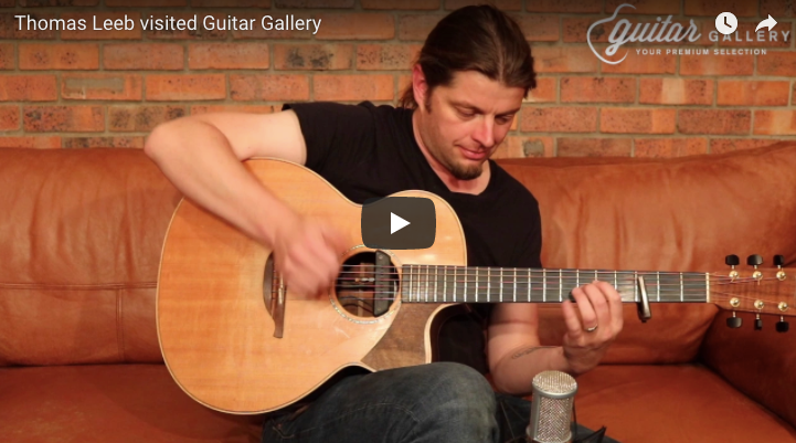 Thomas Leeb visiting Guitar Gallery