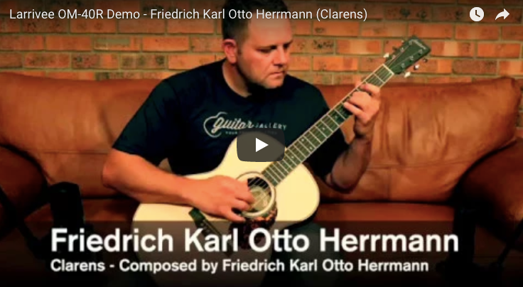Larrivee OM-40R demo, Friedrich performs