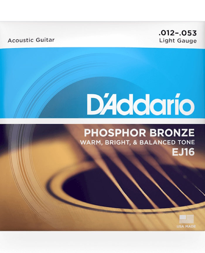 D'Addario Phosphor Bronze Light EJ16 (12-53)