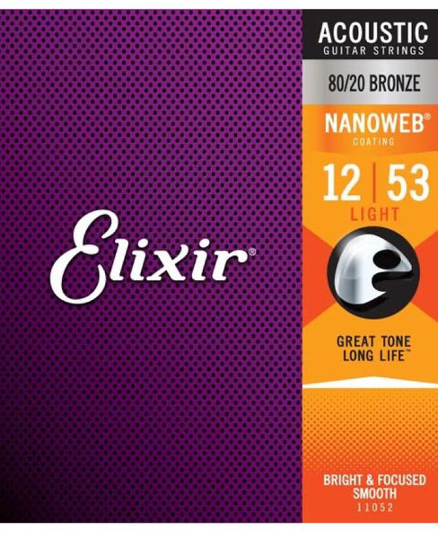 Elixir Acoustic Strings Nanoweb 80/20 Light