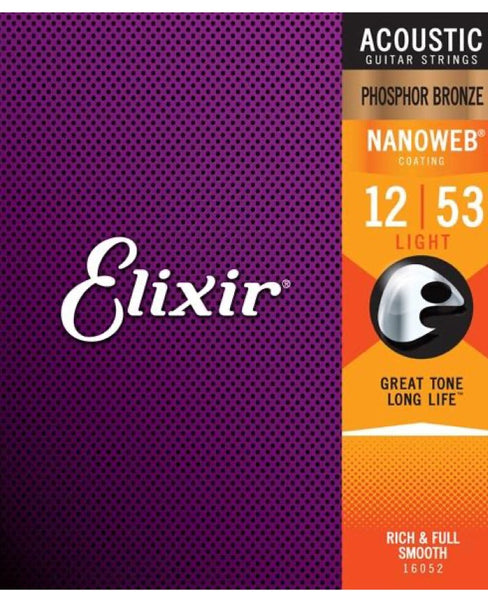 Elixir Acoustic Strings Phosphor Bronze Light