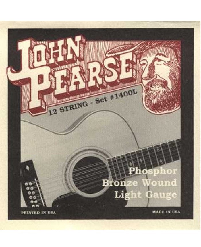 John Pearse 1400L Phosphor Bronze 12-String (Light)