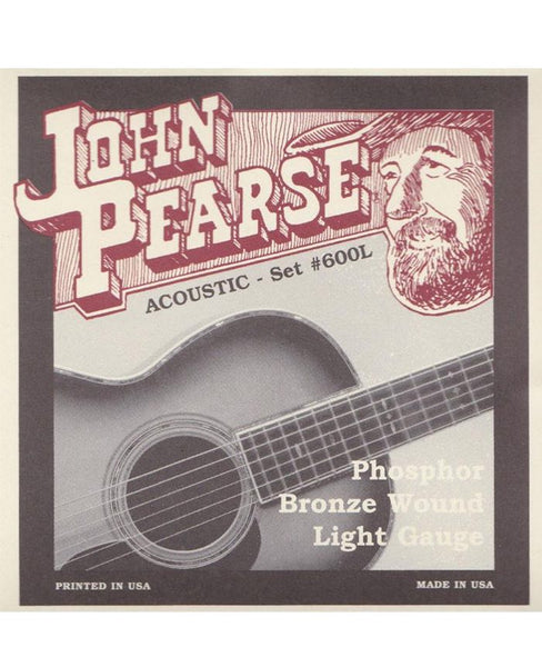 John Pearse 600L Phosphor Bronze (Light)
