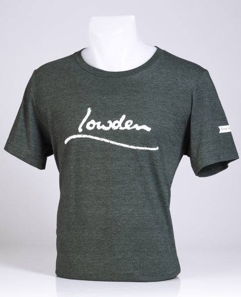 Lowden Distressed Logo T-shirt Unisex - Heather Forest