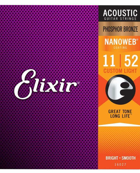 ELIXIR ACOUSTIC STRINGS PHOSPHOR BRONZE Custom Light