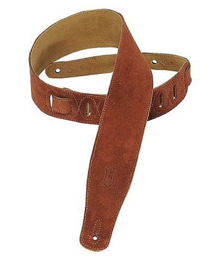 "Levy's Strap 2.5"" Suede Rust Brown"