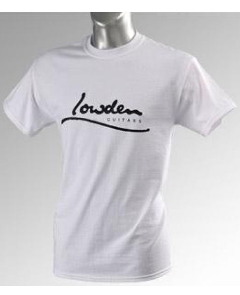 Lowden White Logo T-Shirt