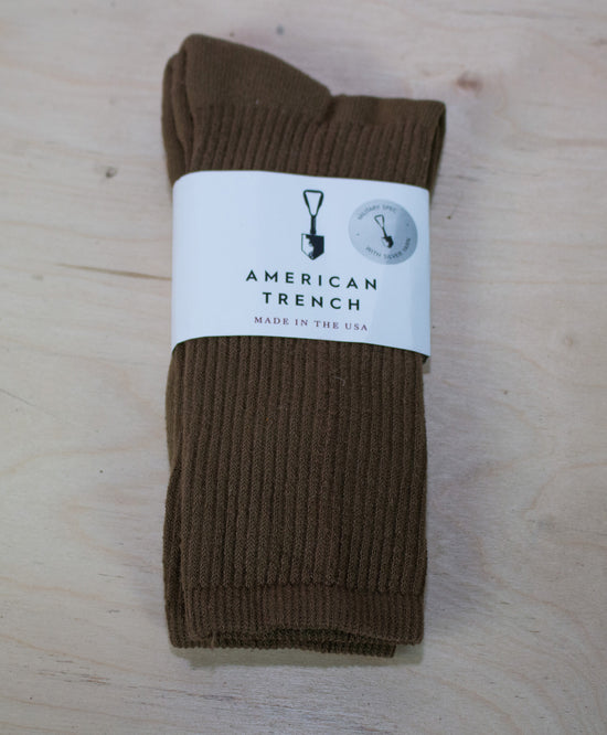 MIL-SPEC SPORTS SOCKS - BROWN