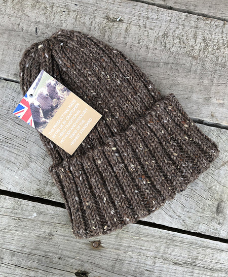 CLOBBER-CALM WOOL BEANIE – BROWN