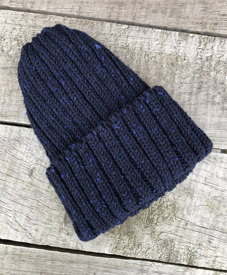 CLOBBER-CALM WOOL BEANIE – NAVY