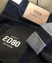 EDWIN ED-80 CS RED LISTED SELVEDGE BLUE RINSED