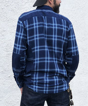 Edwin Indigo Merge Shirt Check Flannel