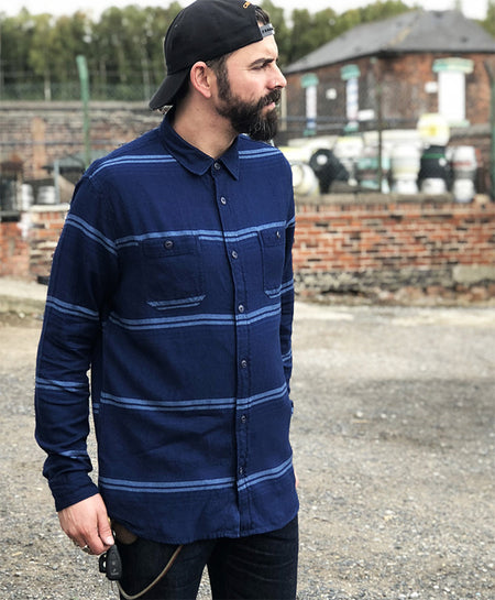 EDWIN LABOUR 4 POCKET INDIGO SHIRT