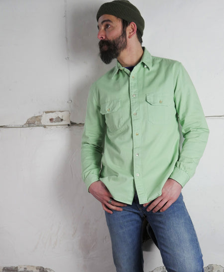 TAB TWILLS SHIRT-Meadow