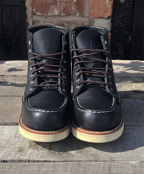 "RED WING LADIES 3372 6"" MOC TOE IN BLACK"