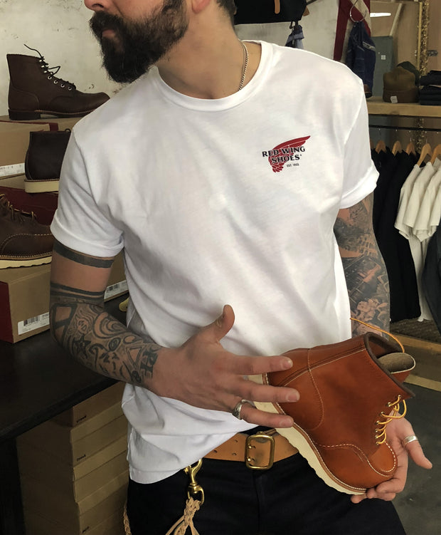 RED WING SLOGAN T-SHIRT - WHITE