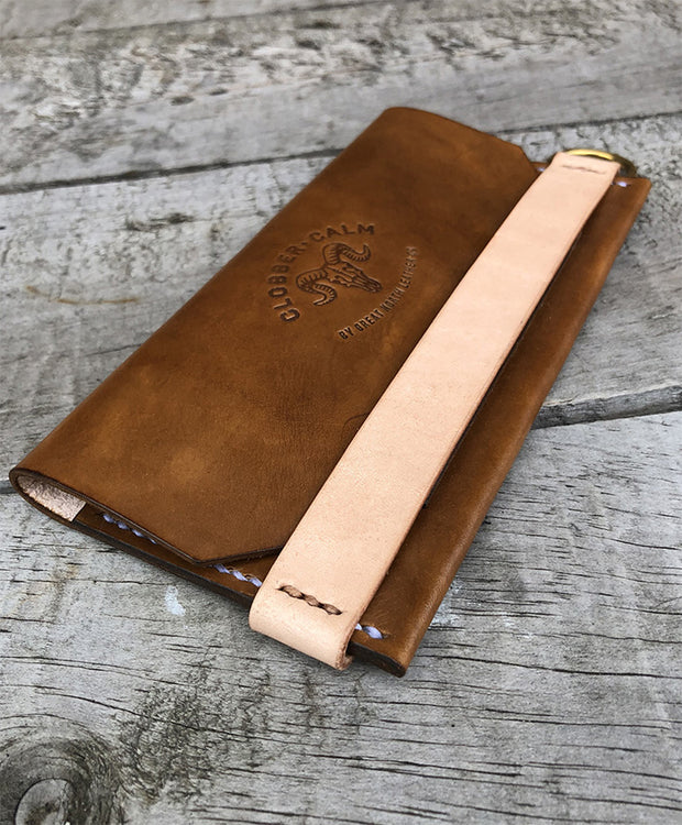 CLOBBER-CALM THE FELLOWS BIKER WALLET – BROWN