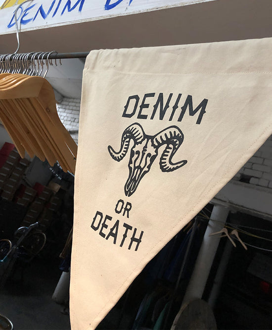 CLOBBER-CALM DENIM OR DEATH FLAG
