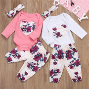 Mia PINK 3pcs Outfit Sets Newborn-18M - Basket Full Of Goods