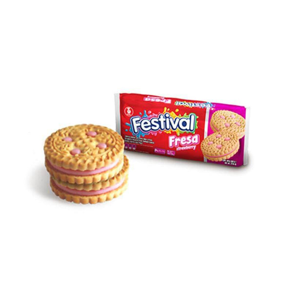 Noel Festival Strawberry Biscuits (415g pack = 12 units) - Chatica