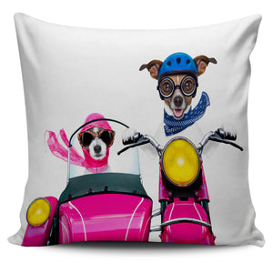 Couple Of Dog Bikers Pillow Case | beddingkings
