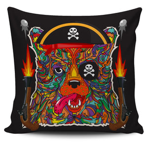 Mad Colourful Dog Pillow Case | beddingkings