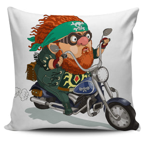 Red Haired Biker Design Pillow Case | beddingkings