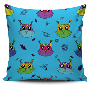 Squirrel On Blue Background Design Pillow Case | beddingkings