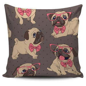 Cute Pug Puppies Design Pillow Case | beddingkings