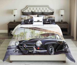 Vintage Black Mercedes-Benz Bedding Set | beddingkings