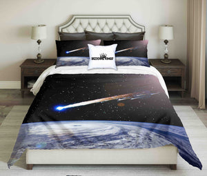 Comet Over The Earth Design Bedding Set | beddingkings
