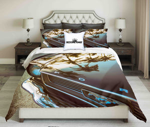 Ford Mustang On Palm Shadow Bedding Set | beddingkings