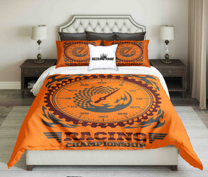 Racing Championship Orange Bedding Set | beddingkings