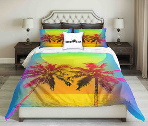 Soft Colour Tropical Design bedding Set | beddingkings