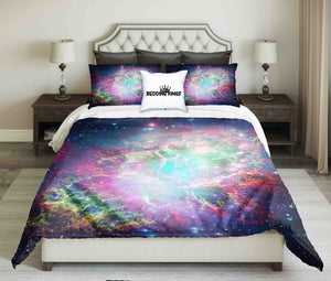Colourful Space Nebula With Stars Bedding Set | beddingkings