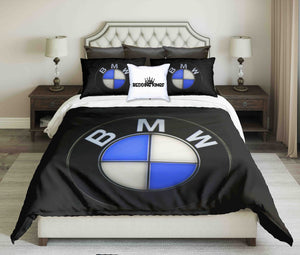 BMW On Black Background Bedding Set | beddingkings