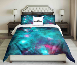 Infrared Image Of Monkey Head Nebula Bedding Set | beddingkings