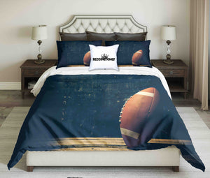 American Football Ball On Dark Background Bedding Set | beddingkings