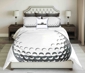 Golf Ball Design On White Background  Bedding Set | beddingkings