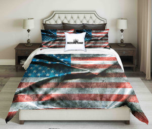 American Flag Background Design Bedding Set | beddingkings