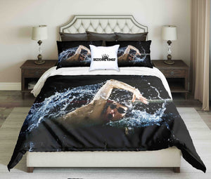 Professional Swimmer Crawl Freestyle  Design Bedding Set | beddingkings